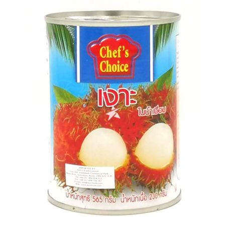 Chef's Choice Rambutan in Syrup Drained Weight 230g Net Weight 565g