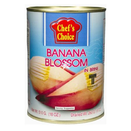 Chef's Choice Banana Blossom in Brine Drained Weight 260g Net Weight 510g