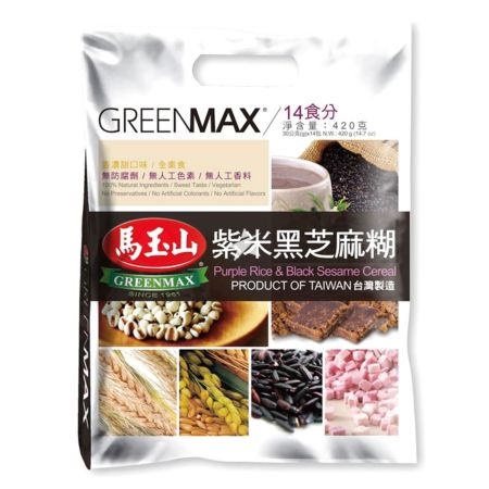 Greenmax Purple Rice and Black Sesame Cereal 14 Sachets 420g
