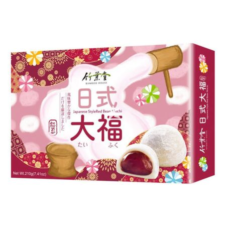 Bamboo House Japanese Style Red Bean Mochi (6 Pieces) 210g