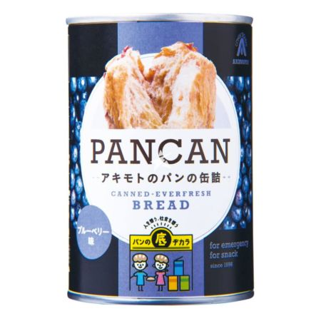 Pan Akimoto Canned Bread Pancan Blueberry Flavour 100g