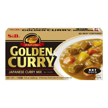 S&B Golden Curry Sauce Mix - Hot (No Meat Contained) 220g