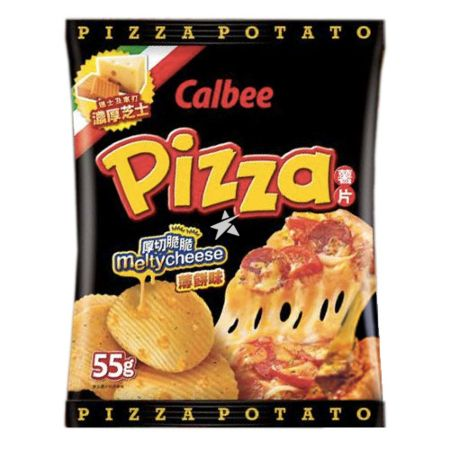 Calbee Potato Chips - Melty Cheese Pizza Flavour 55g