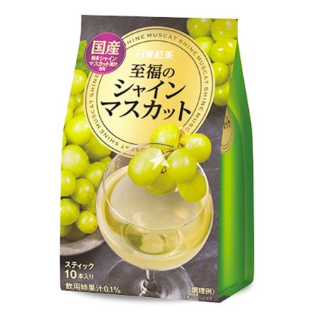 Nittoh Tea Powdered Drink - Shine Muscat Flavour (10 Sachets) 100g