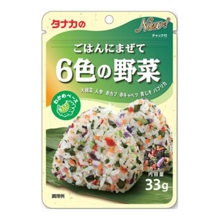 Tanaka Rice Topping 6 Colour Vegetables Flavour 33g