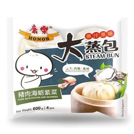 Honor Brand Pork with Oyster and Seaweed Bun 4 Pieces 600g