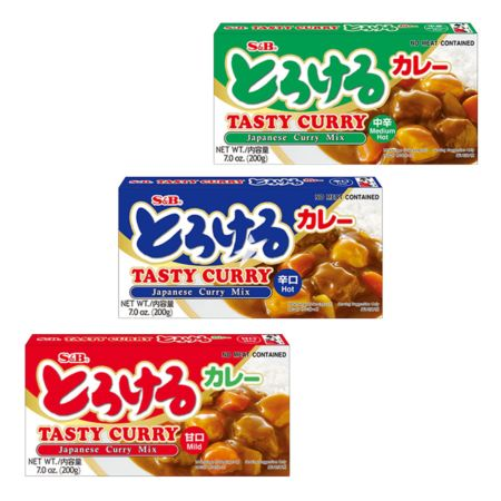 S&B Tasty Curry Sauce 200g  (Set of 3 Flavours)