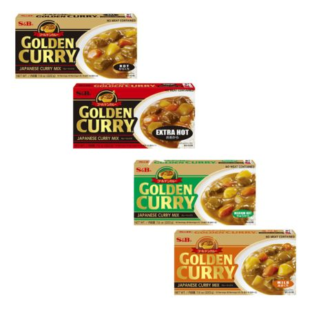 S&B Golden Curry Sauce Mix 220g (Set of 4 Flavours)