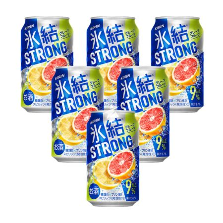 Kirin Hyoketsu Strong Cocktail Double Grapefruit Flavour 350ml 9% Acl./Vol (6 Cans)