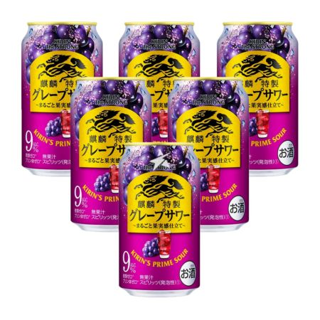 Kirin The Strong Prime Sour Cocktail - Juicy Grape 350ml 9% Acl./Vol (6 Cans)