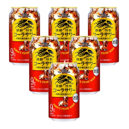 Kirin The Strong Prime Sour Cocktail - Coke 350ml 9% Acl./Vol (6 Cans)
