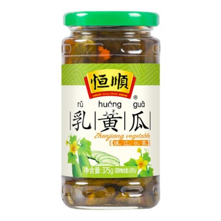 Hengshun (Ru Huang Gua) Pickled Cucumber with Soy Sauce 375g
