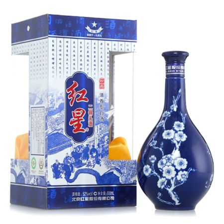 Red Star Er Guo Tou Chiew Blue and White Porcelain 500ml 52% Acl./Vol