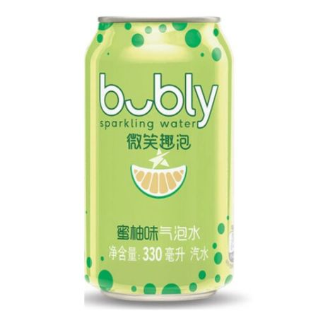 Pepsi Bubly Sparkling Water Pomelo Peach Flavour 330ml