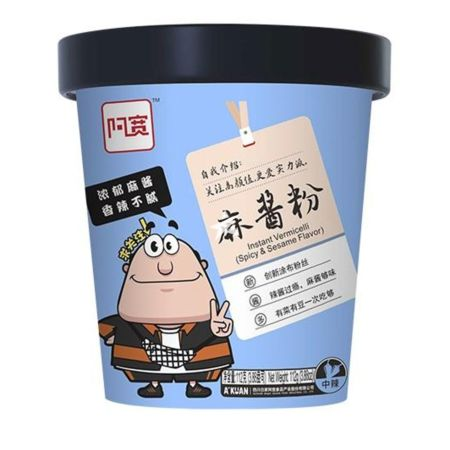 Baijia A-kuan Instant Vermicelli Spicy and Sesame Flavour 112g