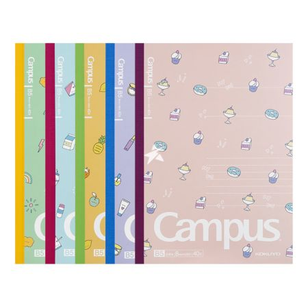 Kokuyo Campus Notebook (Dot and Line) B5 40pages - Colourful Summer Pattern (Set of 5)