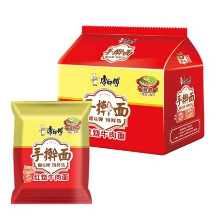 Master Kong Handmade Noodle Roast Artificial Beef Flavour 120g (Pack of 5)