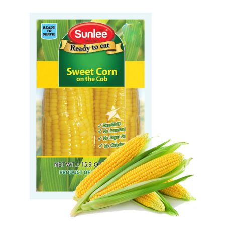Sunlee Sweet Corn on the Cob (Ready to Eat) 2 Pieces 450g