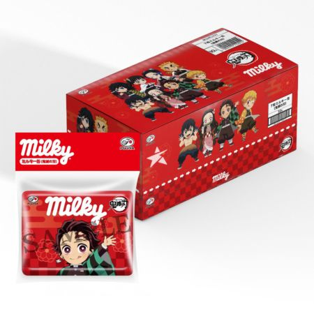 Fujiya Milky Can Candy (Demon Slayer Collaboration Version) (3.6g*7 Pieces) 25.2g (Pack of 10)