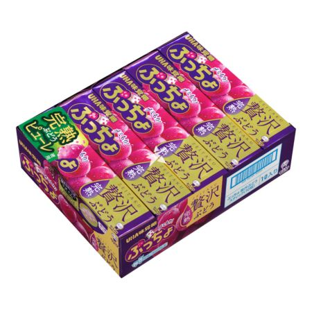 Uha Puccho Grape Flavoured Chewy Candy 50g (Pack of 10)