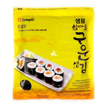 Sempio Dried Seaweed for Sushi and Roll (50 Sheets) 100g