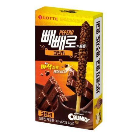 Lotte Pepero Chocolate & Biscuit Stick - Crunky 39g