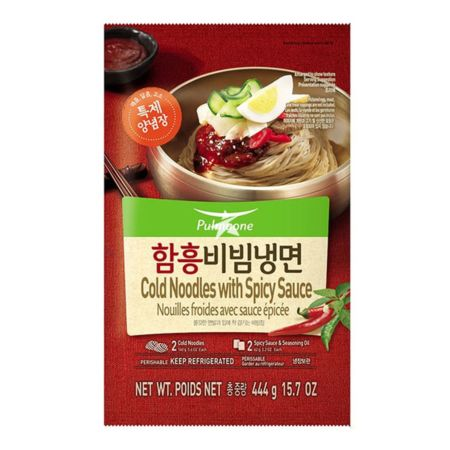 Pulmuone Cold Noodles with Spicy Sauce (2 Servings) 444g