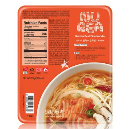 Young Poong Nurea Dried Rice Noodle - Kimchi Flavour 100g