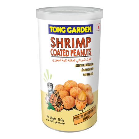 Tong Garden Coated Peanuts Can - Shrimp Flavour 160g