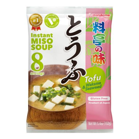 Marukome Instant Miso Soup with Tofu and Wakame Seaweed (Gluten Free) 8 Servings 152g