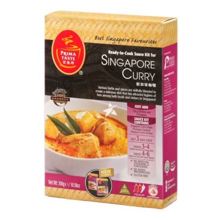 Prima Taste Ready-to-Cook Sauce Kit for Singapore Curry 225g