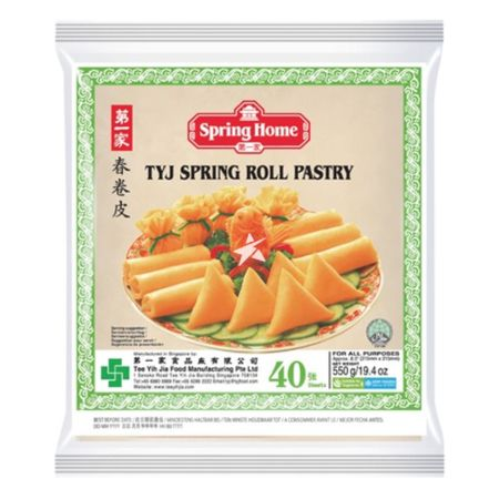 Spring Home TYJ Spring Roll Pastry 8.5 inches (Approx. 215mmx215mm) 40 Pieces 550g
