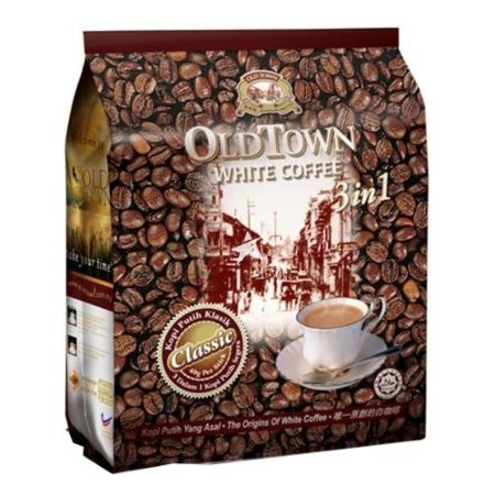 Old Town 3 in 1 Classic White Coffee  (15 Sachets) 600g
