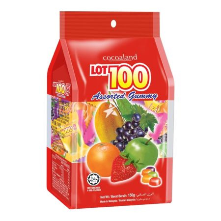 Cocoaland LOT100 Gummy Assorted Flavour 150g
