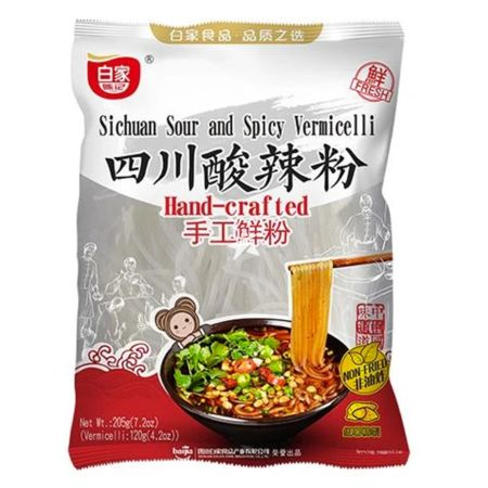 Baijia Sichuan Sour and Spicy Vermicelli Hand-crafted 190g