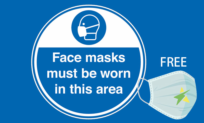 Free masks at the door - all Starry Mart branches