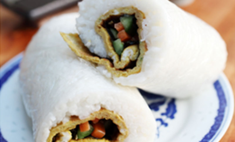 Recipe - Ching He Huang's Omelette Rice Roll [Serves 2]