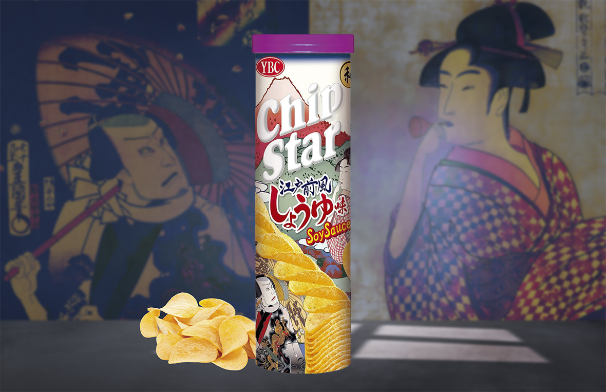 YBC Chipstar Potato Chips Edo-mae Soy Sauce Flavour
